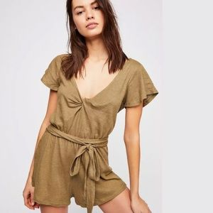Free People Front Wrap One Piece romper size L